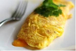 Bosui omelet met gerookte zalm