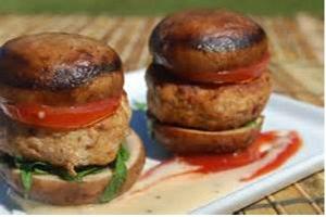 portobello als een hamburger
